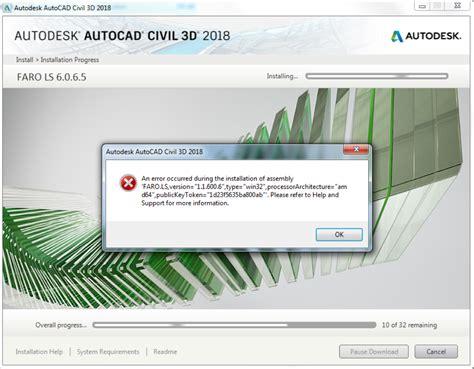 Jual Autodesk Autocad Civil 3d 2018 Version faro ls error during civil 3d 2018 installation civil 3d autodesk knowledge network
