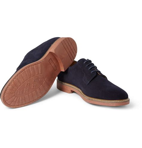 a p c suede derby shoes in blue for lyst