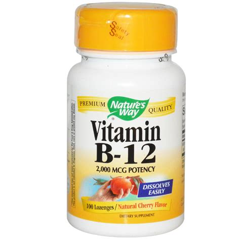 Vit B12 Nature S Way Vitamin B 12 Cherry Flavor 2 000