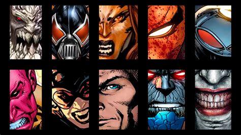 los 5 mejores villanos de dc comics hero fist top 10 los mejores villanos de dc comics youtube