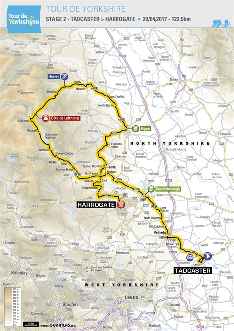 the 2017 tour de yorkshire see maps of the routes tyne tees itv harrogate the stage 2 finish for 2017 tour de yorkshire