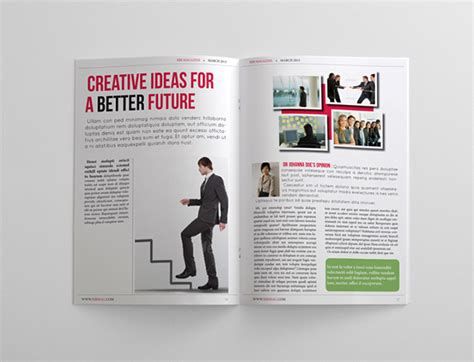 24 pages business magazine template on behance