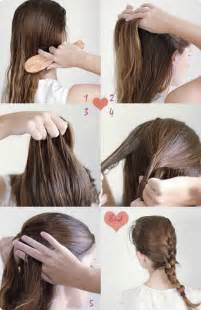 Cute Hairstyle Step By Step by Simple Hairstyles For Long Hair Step By Step