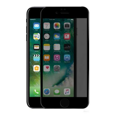 iphone 8 plus 7 plus privacy tempered glass screen protector black walmart