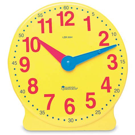 printable toy clock big time 12 hour student clock from learning resources wwsm
