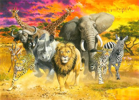 Safari Home Decor africa s finest painting by john francis
