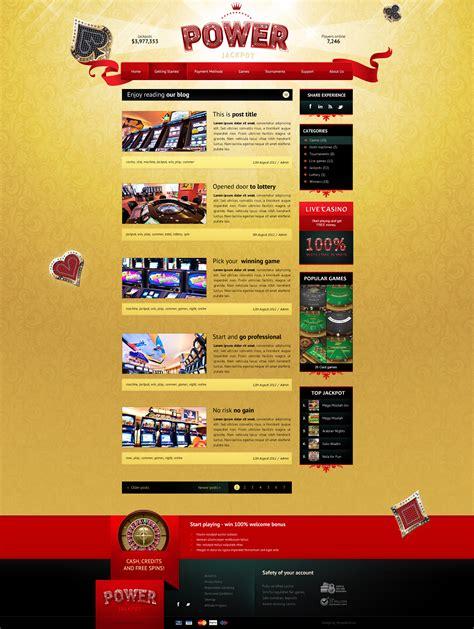 themeforest blog listing themeforest power jackpot glossy and shiny html theme
