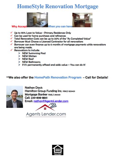 homestyle renovation mortgage meet the agent s lender