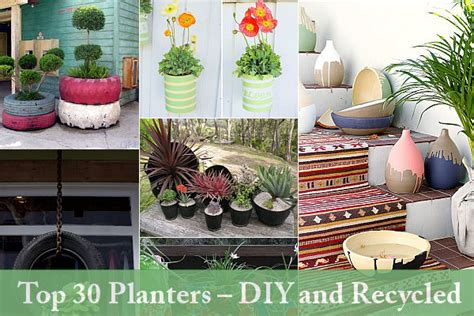 how to make cool planters from recycled materials one beautiful planters made of recycled materials 500eco
