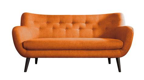canap駸 tissus adele canap 233 3 places scandinave tissu orange les