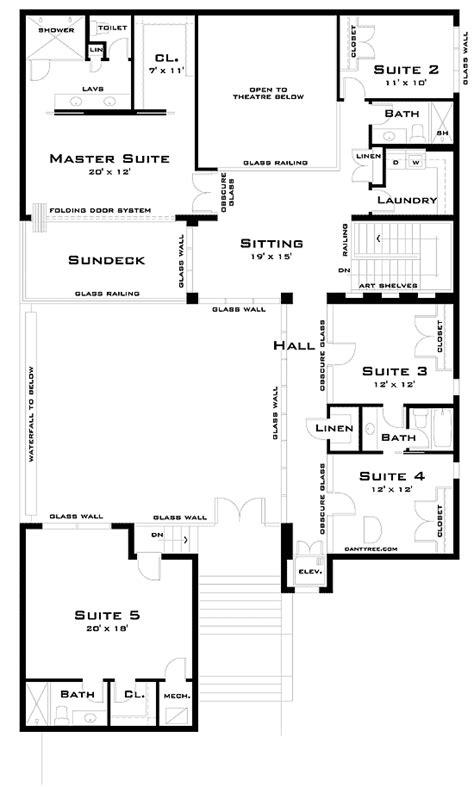courtyard garage and full basement beach house plan alp modern beach home with tree courtyard 44064td