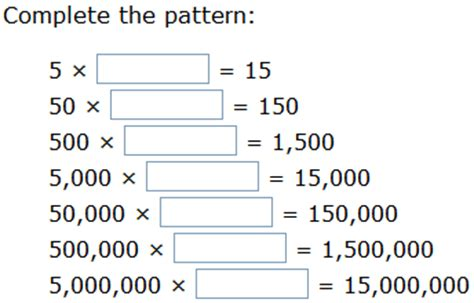 pattern games for 5th grade ixl multiplication patterns over increasing place values