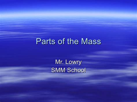 sections of mass parts of the mass