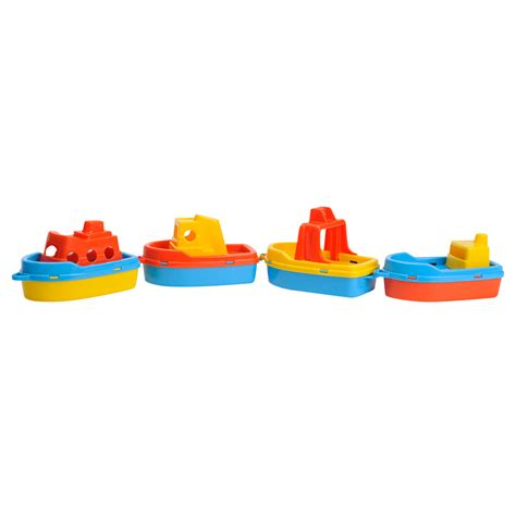 bootje speelgoed bootjes 4st online kopen lobbes nl