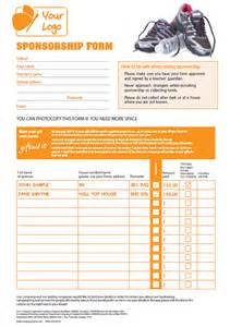 Sponsored Run Form Template by Sponsorship Form For Charity