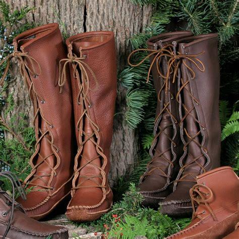 mens knee high moccasin boots footskins mens cowhide knee high moccasin boots mens