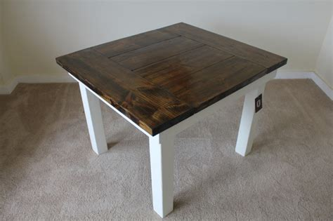 square farm table 46 quot x 46 quot square farmhouse table with endcaps dining