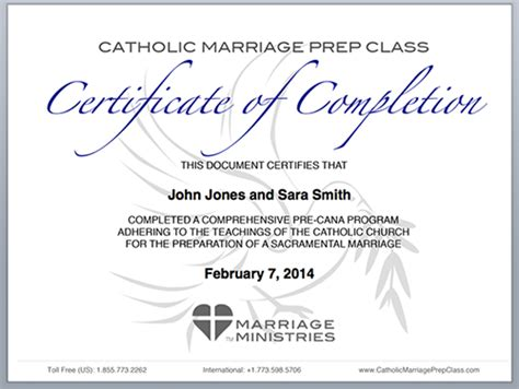 Awesome Catholic Church Pre Cana #9: Certificate-of-completion.png