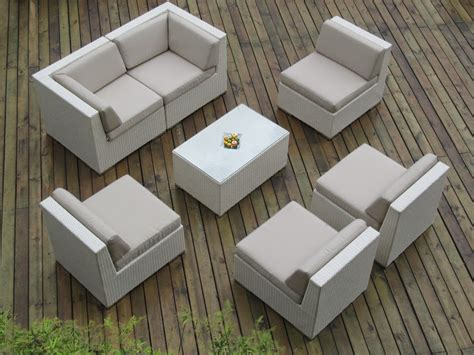 White Wicker Patio Furniture Sets Discount 50 For Ohana Collection Pn0703awt 7 Outdoor Patio Sofa Sectional Wicker