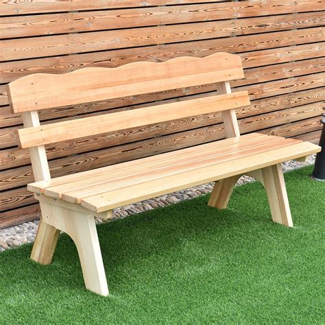 garden wood bench 5 ft 3 seats outdoor wooden garden bench chair wood frame