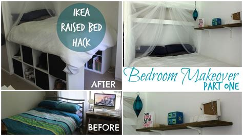 diy ikea platform bed made from kallax expedit bookcase