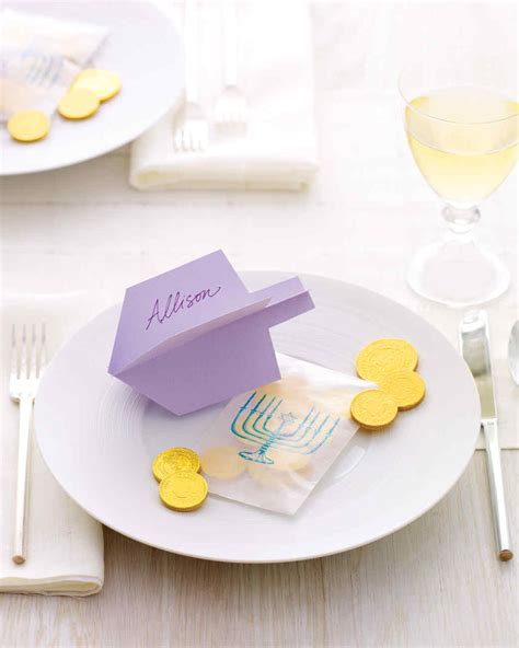 martha stewart greeting card templates dreidel place card martha stewart