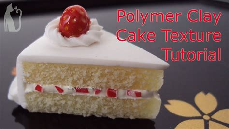 how to make cake how to make cake texture polymer clay tutorial by talty