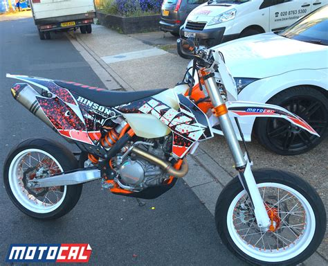 Ktm 350 Supermoto Custom Ktm Decal Design Motocal Motor Racing Decals