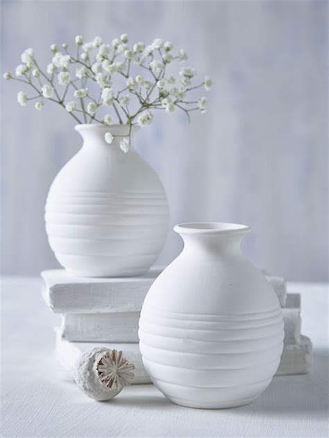 White Small Vase by Small White Vase