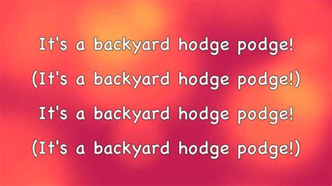Phineas And Ferb Backyard Lyrics by Phineas And Ferb Backyard Hodge Podge Lyrics Hd Hq