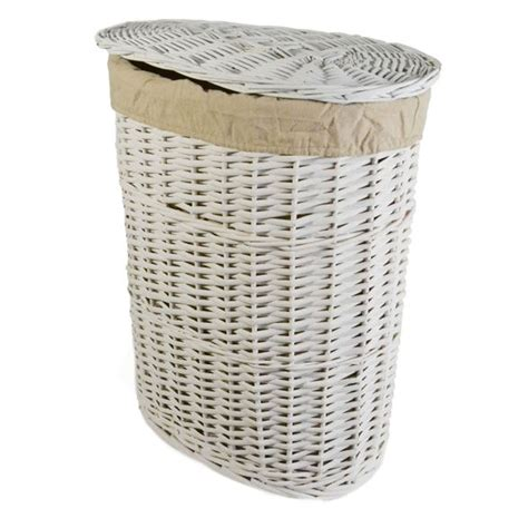 laundry basket casa willow laundry basket small white leekes