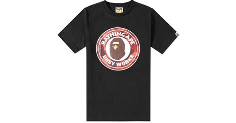 Bathing Ape Busy Work Bape a bathing ape colour camo busy works in black for lyst