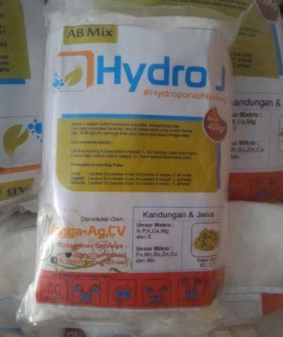 Nutrisi Hydroponik Ab Mix Hydro J Cabe jual nutrisi hidroponik ab mix sayuran daun hydro j 1 l 400 gram