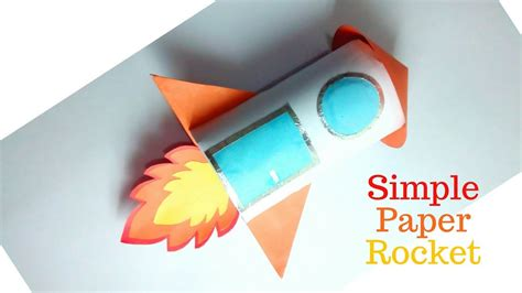 How To Make A Simple Paper Rocket - simple paper rocket rocket origami rocket toilet paper