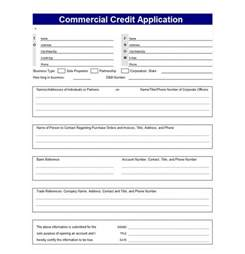 business credit application template credit application template credit application templates