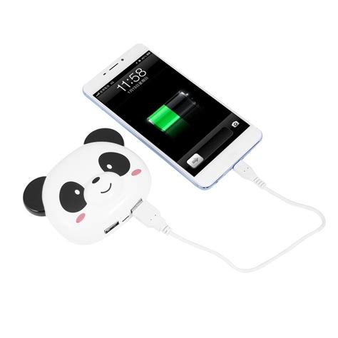 Panda Imut Iphone 6 7 5 Xiaomi Redmi Note F1s Oppo S6 panda powerbank 4000mah for xiaomi redmi mi power