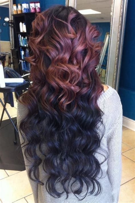 reverse ombre hair extensions achieve this look with the brazilian beach wave texture at