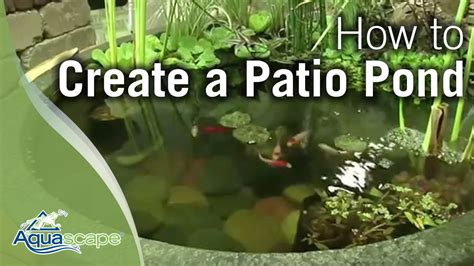 how to create a patio pond by aquascape