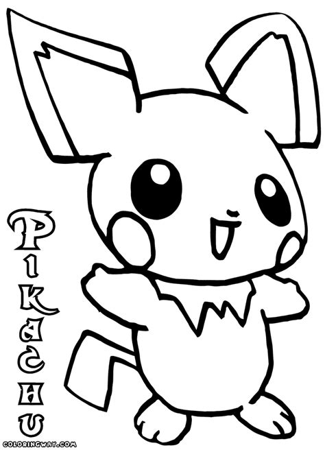 cute baby pikachu coloring pages
