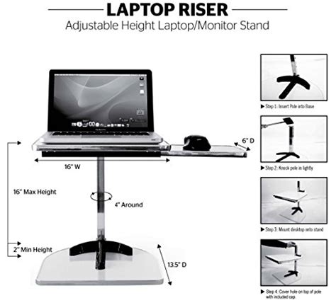 adjustable height stand up desk and monitor holder height adjustable standing desk converter the laptop