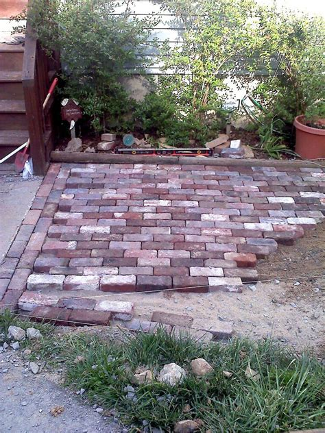 bricks for backyard 187 antique brick patio done