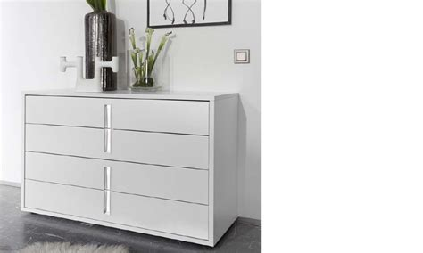 Commode Blanche Design by Commode Design Blanche Et Chrom 233 Chambre Adulte