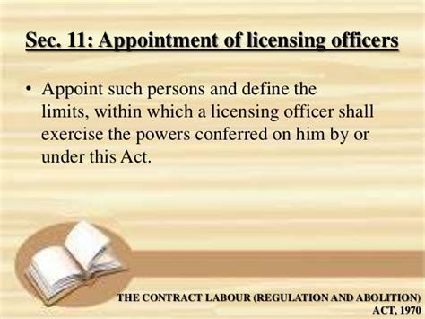 section 16 officer definition the contract labour regulation and abolition 1970