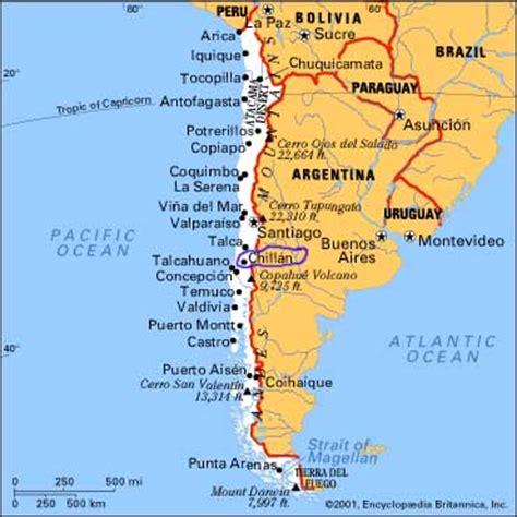 south america map chile chile south america ursuline of mount joseph