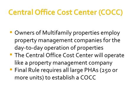 Mba Property Management Llc by The Central Office Cost Center