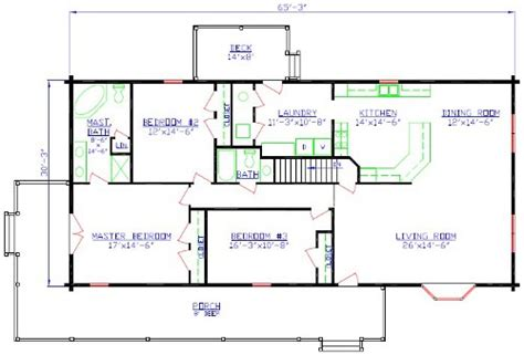the colorado log home floorplan