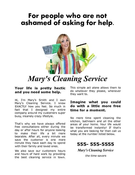 house cleaning flyer that gets results