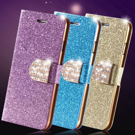 i6 6s plus stand wallet cover luxury glitter bling