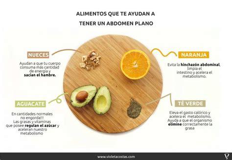 los mejores alimentos  tener  abdomen plano violeta costas