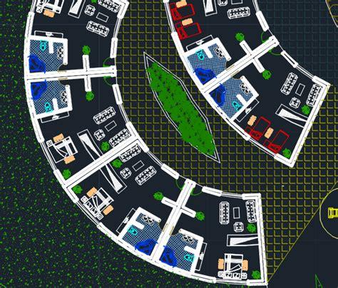 hotel complex  dwg design plan  autocad designs cad